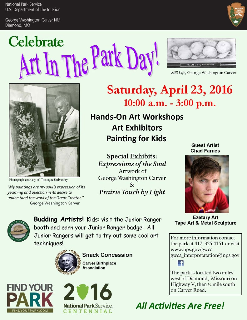 Art in Park Flyer 2016