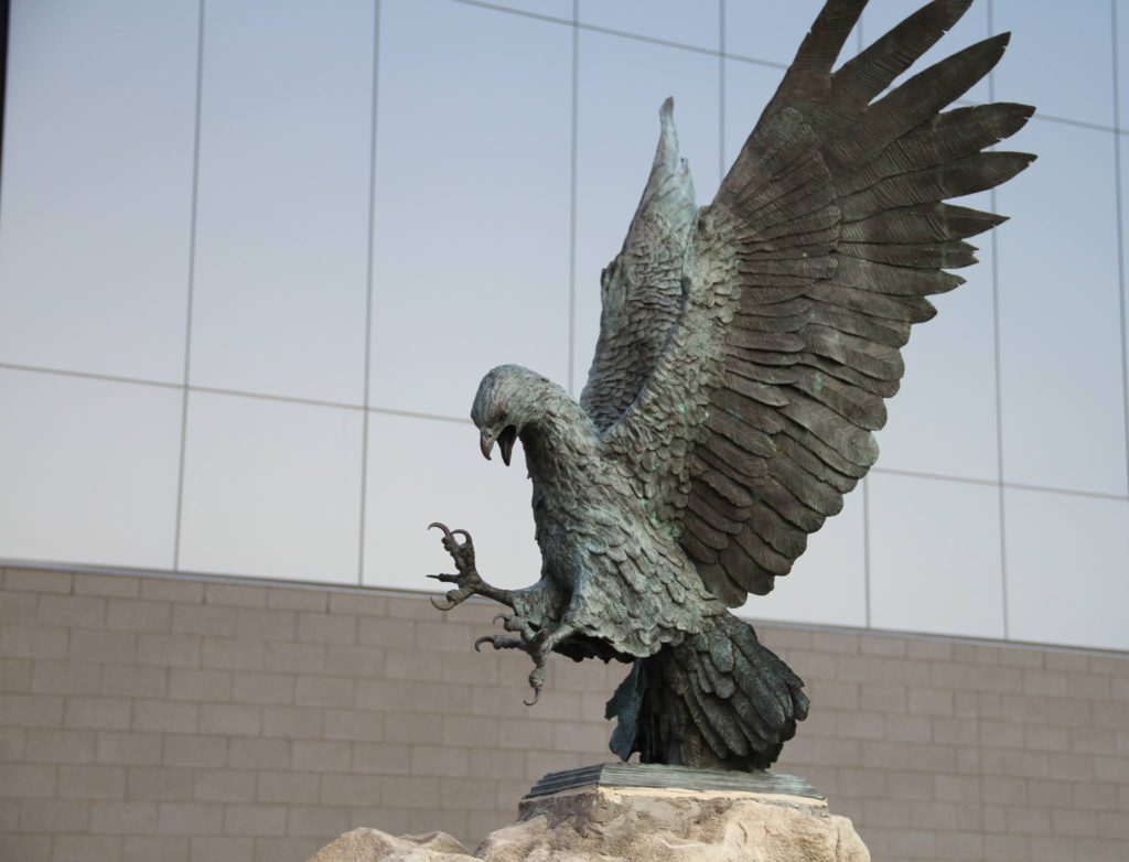 Joplin High School Eagle Sculpture
