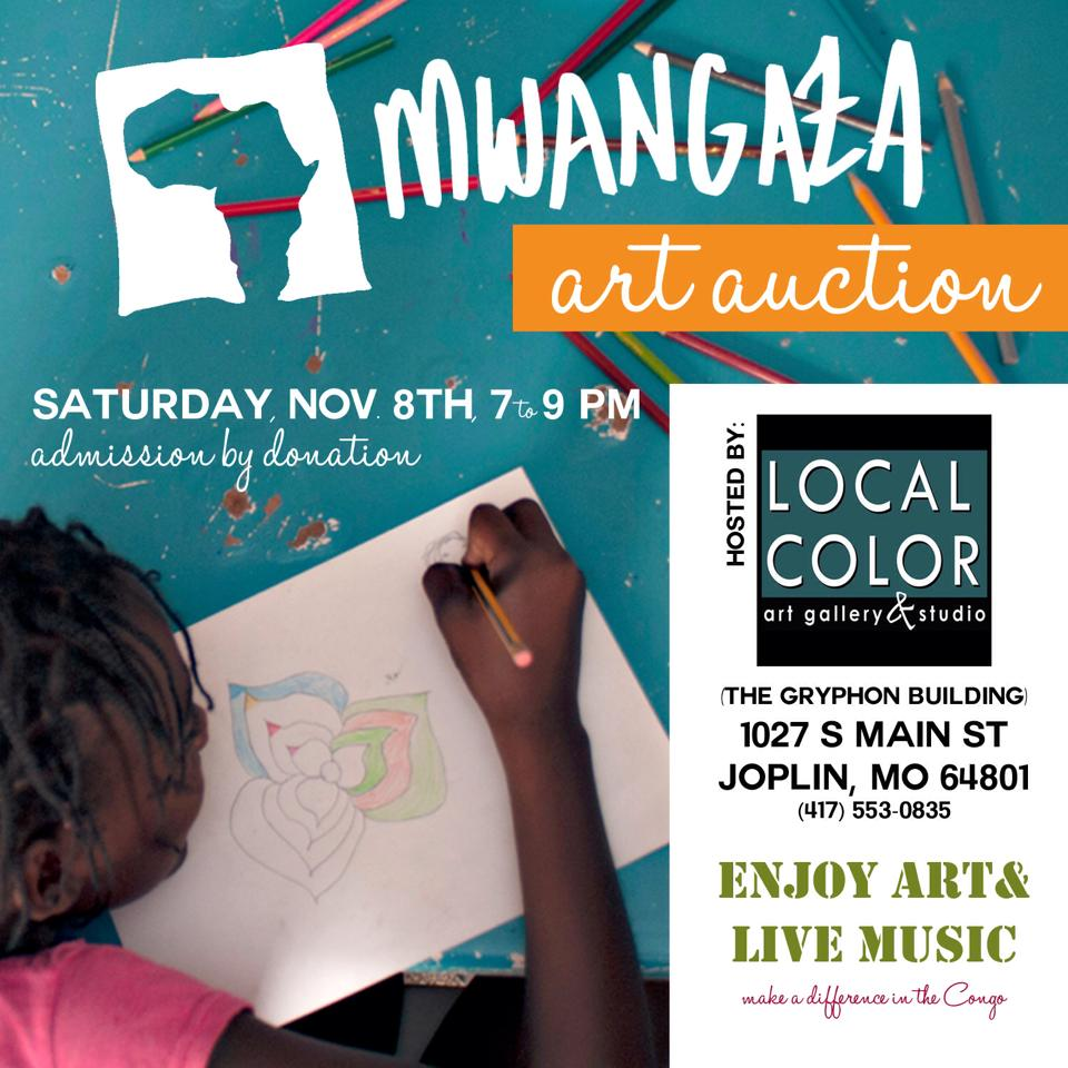 Mwangaza International Fundraiser at Local Color Art Gallery & Studio