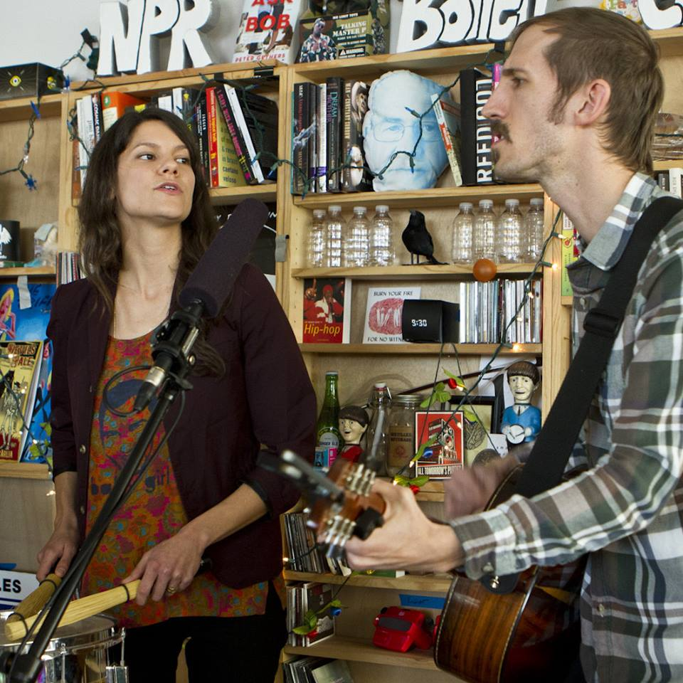 Lowland Hum performing at NPRs Tiny Desk Concert